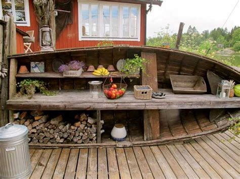 rustic outdoor kitchen ideas 15 clever ideas for reuse boats