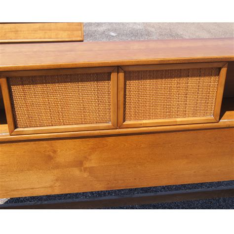 vintage conant style bed headboard and footboard ebay