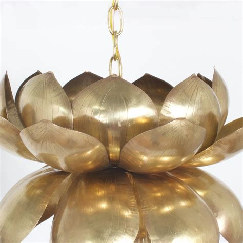 large size lotus pendant light for sale at 1stdibs