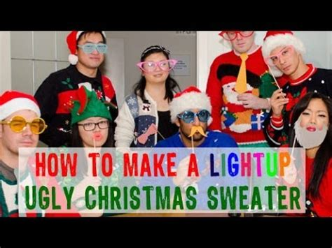 how to make a light up ugly christmas sweater youtube