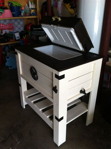 Handmade Coolers - custom built 54qt wooden cooler built with scrap wood from