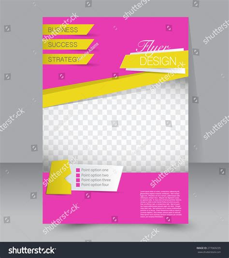 editable poster templates flyer template business brochure editable a4 stock vector
