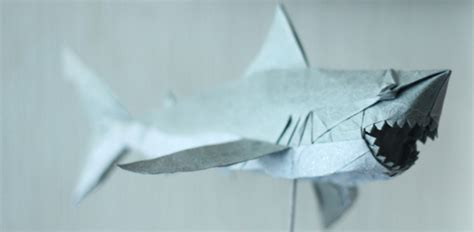 Origami Great White Shark - spoilers i designed and folded origami renditions of the