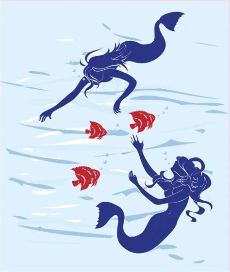 Public Domain Mermaid Vector