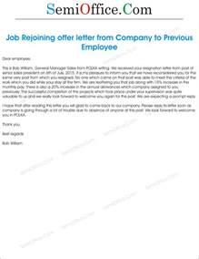 sle rejoining offer letter of employee