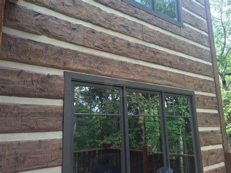 log cabin siding menlo log home everlog systems