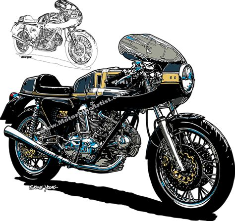 illustrator tutorial motorcycle ducati 750ss vintage motorcycle vector art on wacom gallery