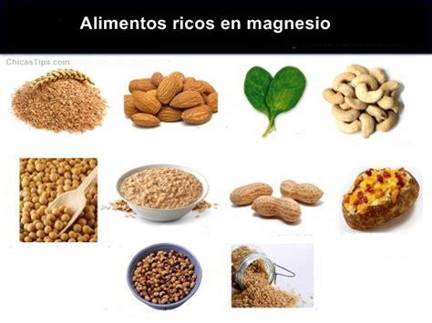 que alimentos contienen magnesio alimentos ricos en magnesio