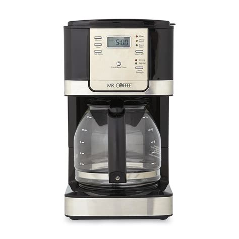coffee maker stainless mr coffee jwx27 12 cup programmable coffee maker