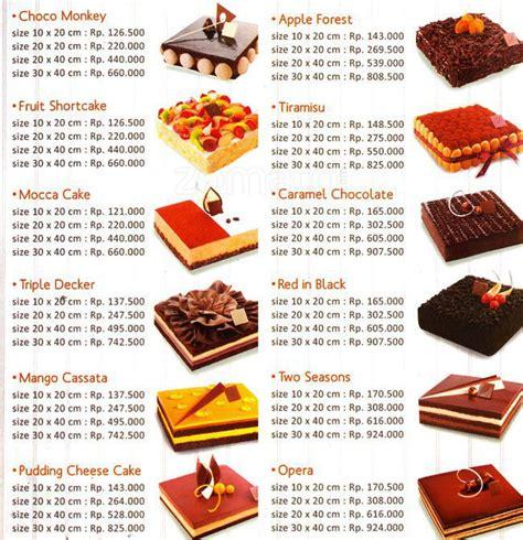Daftar Menu Di Coffee Toffee Surabaya daftar harga kue dapur cokelat menu lengkap dengan gambar