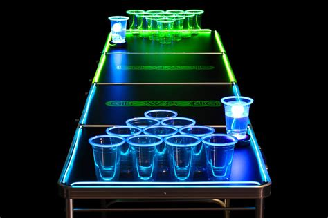 Blacklight Pong Table by Glowpong Glow In The Pong Hiconsumption