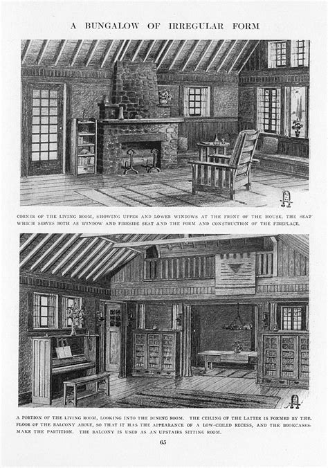 gustav stickley house plans craftsman homes by gustav stickley 1909 a bungalow of irregular form living room