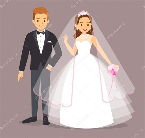 imagenes de novias judias novio y novia de dibujos animados de ilustraci 243 n vectorial