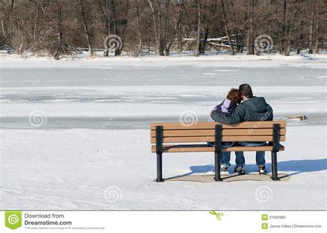 couple sitting on bench couple sitting on bench royalty free stock photo image 21082965