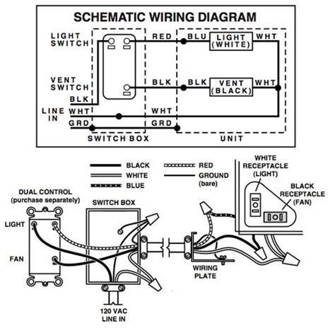 nutone bathroom fan wiring diagram nutone bathroom fan wiring diagram efcaviation com