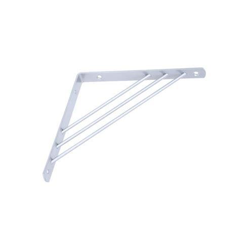 handy shelf 195 x 195mm silver tri bracket bunnings