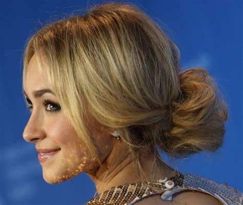 classy simple feminine updo  women  bun hairstyles