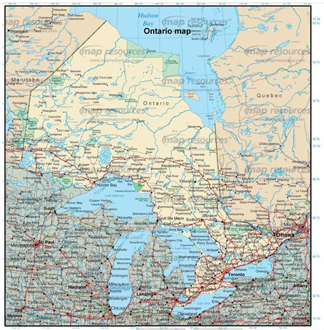 maps ontario directions ontario images