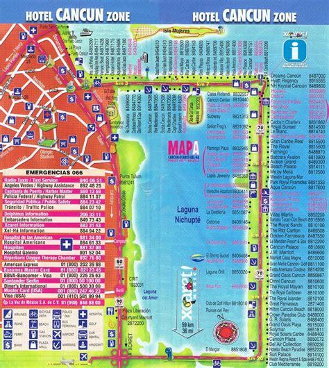 map of cancun cancun hotel map cancun mappery