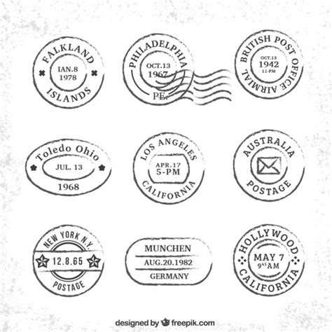 imagenes vintage sellos colecci 243 n de sellos vintage de viaje descargar vectores