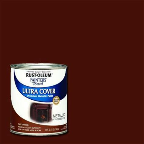 rust oleum painter s touch 32 oz ultra cover metallic rubbed bronze general purpose 254101