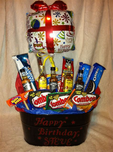 birthday gift basket for him just for daddy pinterest