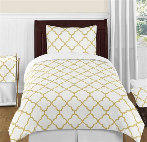 trellis comforter trellis white and gold twin bedding collection