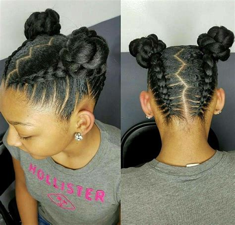 young black american women hair style corn row based natural hair styles for kids and teens buns and updo s
