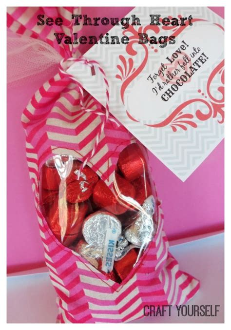 valentines bags see through bags and free printable