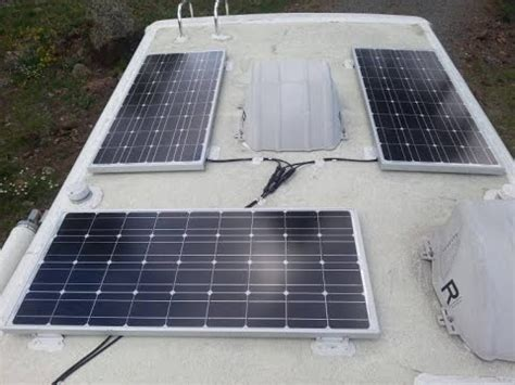 rv roof install solar panels rv roof setup