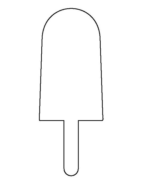 popsicle template popsicle pattern use the printable outline for crafts