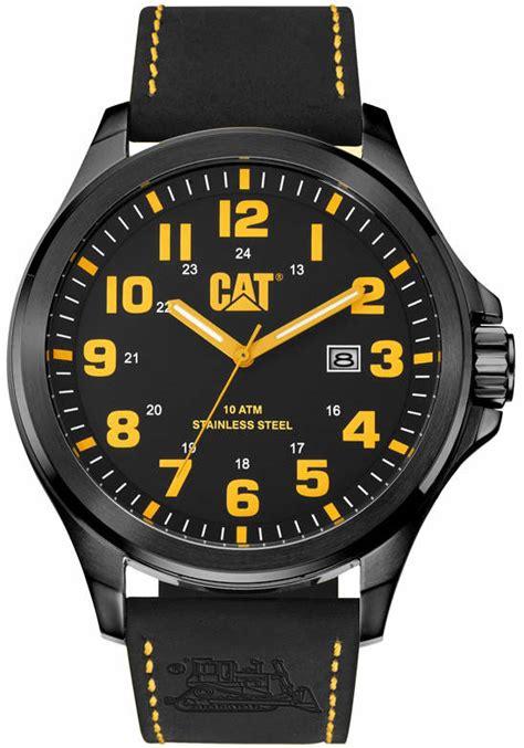 Caterpillar Cat Watches Orginal by S Cat Caterpillar Operator Black Leather