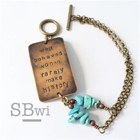 well behaved rarely make history jewelry well behaved rarely make history bracelet in bronze with