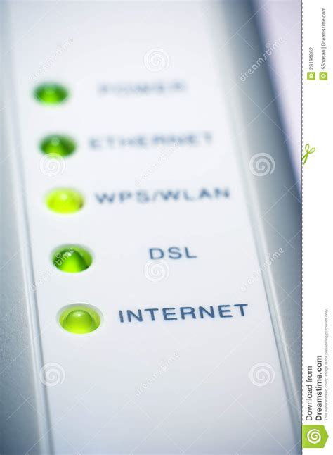 modem internet light off internet modem light stock photography image 23191862