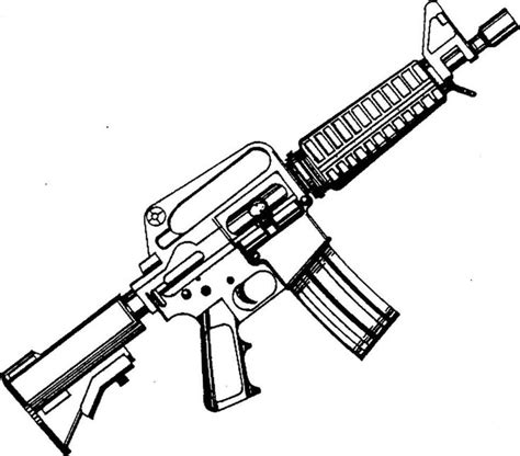 Coloring Page Gun by Ar 15 Coloring Page M16 Gun Colouring Pages Page 3
