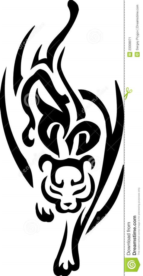 tribal cat stock image image jaguar in tribal style vector illustration stock image