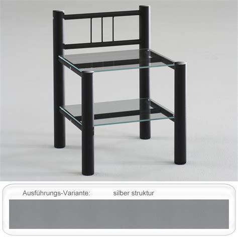 Nachttisch Silber Metall by Nachttisch Noah 45x62x37 Cm Metall Glas Farbe Nach Wahl