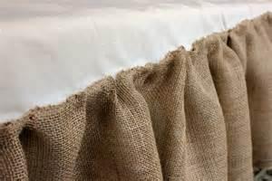 how to make a burlap bedskirt daisymaebelle daisymaebelle