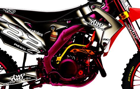 design graphics mx two two motorsports chad reed mx graphics by k4rlswede on