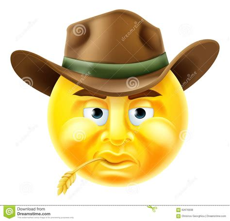old boat emoji emoticon cowboy stock vector illustration of emojis
