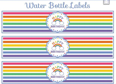 Mineral Water Label Template by Rainbow Theme Printable Mineral Water Addiction 2