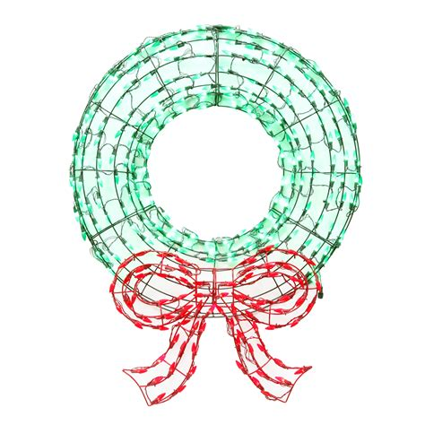 sears outdoor lighted christmas garland light up wreath decoration spread cheer at sears
