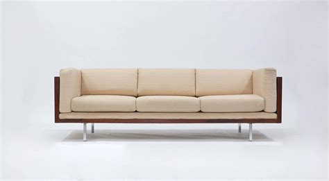 rosewood sofa rosewood tuxedo sofa by milo baughman at 1stdibs
