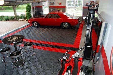 home garage workshop with racedeck garage flooring wall garage floor tiles garage flooring ideas by racedeck