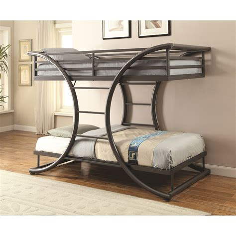 coaster twin loft bed with desk coaster bunks 461078 twin over twin contemporary bunk bed