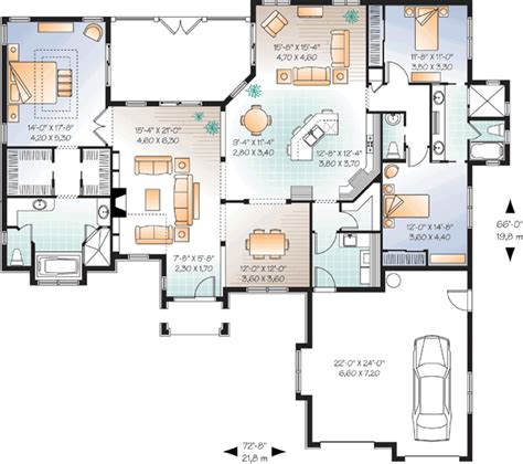 monster house plans com traditional style house plans 2495 square foot home 1