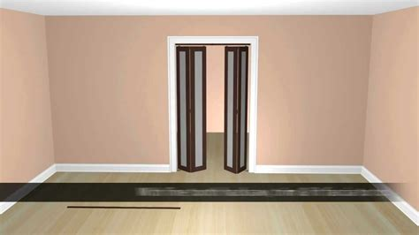 Bifold Closet Doors With Frosted Glass How To Install A Replacement Wood 1 Lite Sliding Frosted Glass Bifold Closet Door