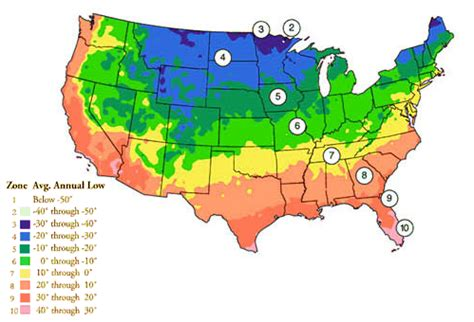 Landscape Zones Usa Planting Zones Map Of Us