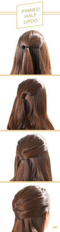 simple half up party lob the prettiest half up half down to get this beautiful pinned half updo follow this step