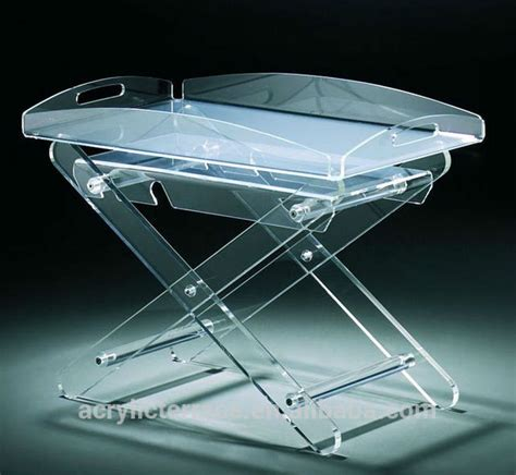acrylic butler tray table acrylic serving tray acrylic folding tray table